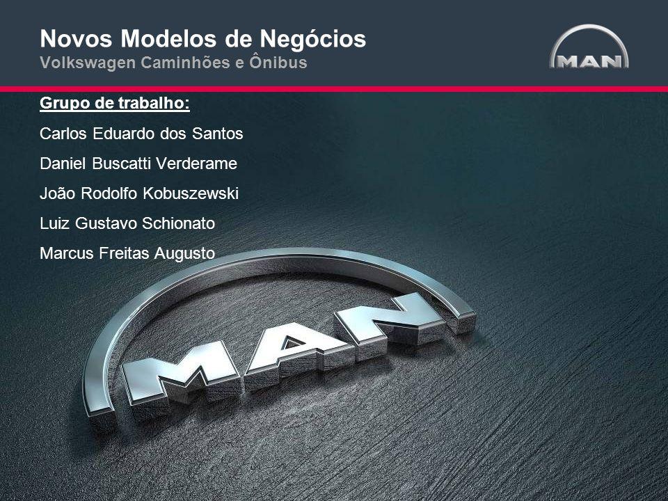 Novos Modelos de Negócios Volkswagen Caminhões e Ônibus Grupo de trabalho: Carlos Eduardo dos Santos Daniel Buscatti Verderame João Rodolfo Kobuszewsk