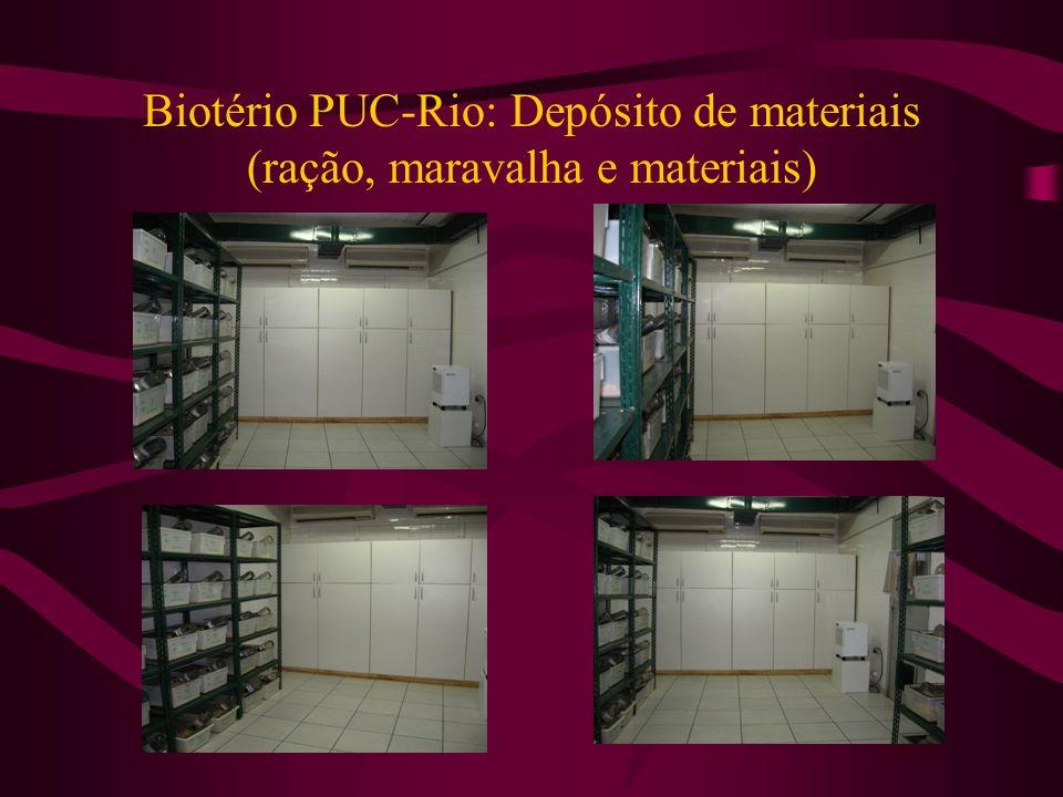 Biotério PUC-Rio: Depósito de materiais (ração, maravalha e materiais)