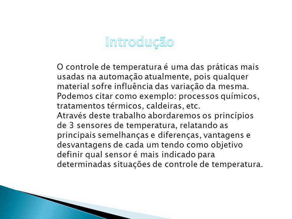 O controle de temperatura é uma das práticas mais usadas na automação atualmente, pois qualquer material sofre influência das variação da mesma. Podem