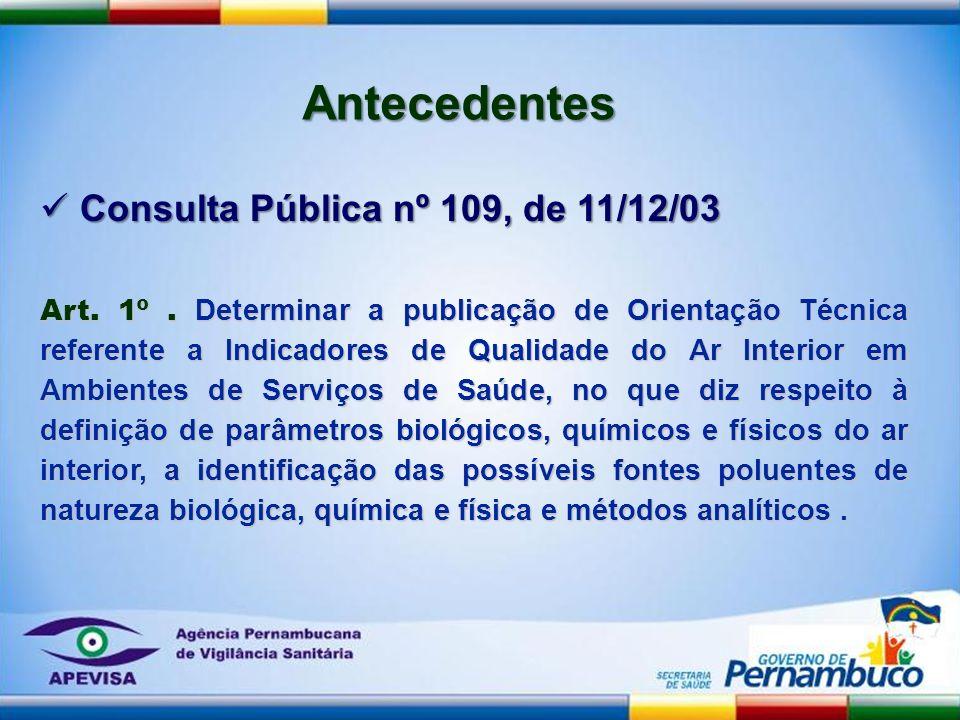 Art. 1º. Determinar a publicação de Orientação Técnica referente a Indicadores de Qualidade do Ar Interior em Ambientes de Serviços de Saúde, no que d