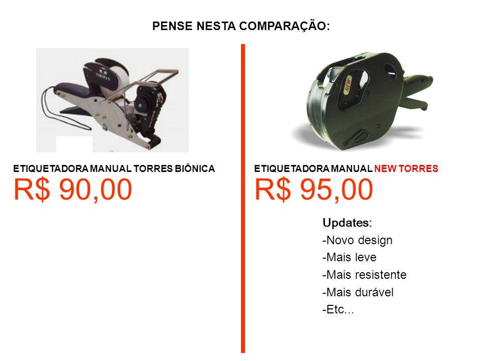 ETIQUETADORA MANUAL TORRES BIÔNICA Updates: -Novo design -Mais leve -Mais resistente -Mais durável -Etc...