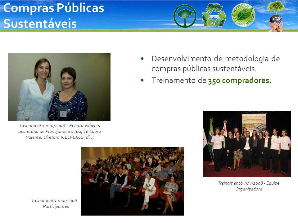 Desenvolvimento de metodologia de compras públicas sustentáveis. Treinamento de 350 compradores. Treinamento nov/2008 - Equipe Organizadora Treinament