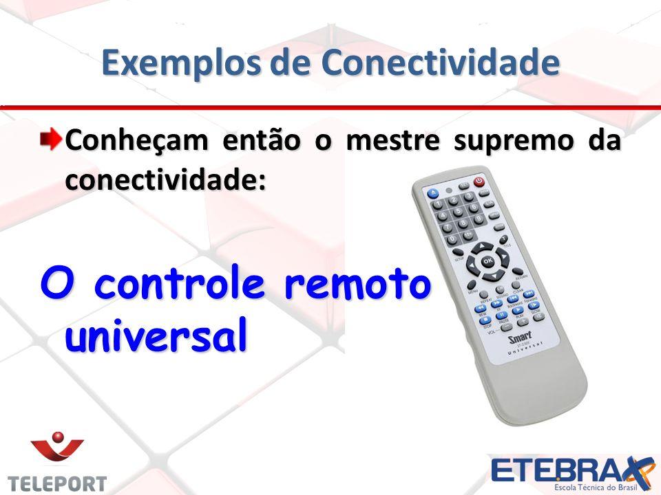 Exemplos de Conectividade Conheçam então o mestre supremo da conectividade: O controle remoto universal