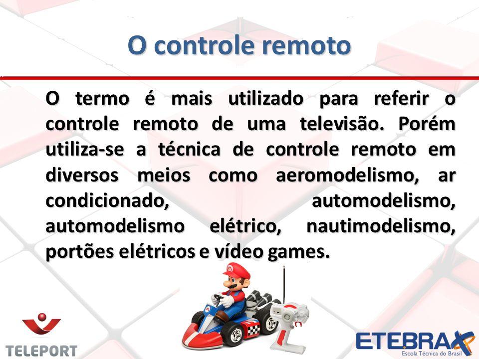 O termo é mais utilizado para referir o controle remoto de uma televisão. Porém utiliza-se a técnica de controle remoto em diversos meios como aeromod