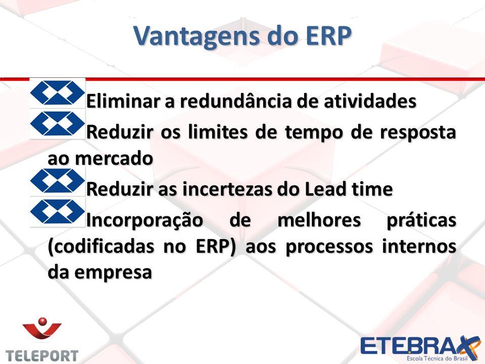 E liminar a redundância de atividades Reduzir os limites de tempo de resposta ao mercado Reduzir as incertezas do Lead time Incorporação de melhores p