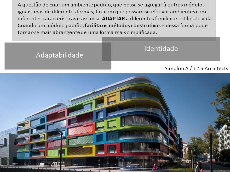 Simplon A / T2.a Architects Planta baixa livre, fluidez A questão de criar um ambiente padrão, que possa se agregar à outros módulos iguais, mas de di