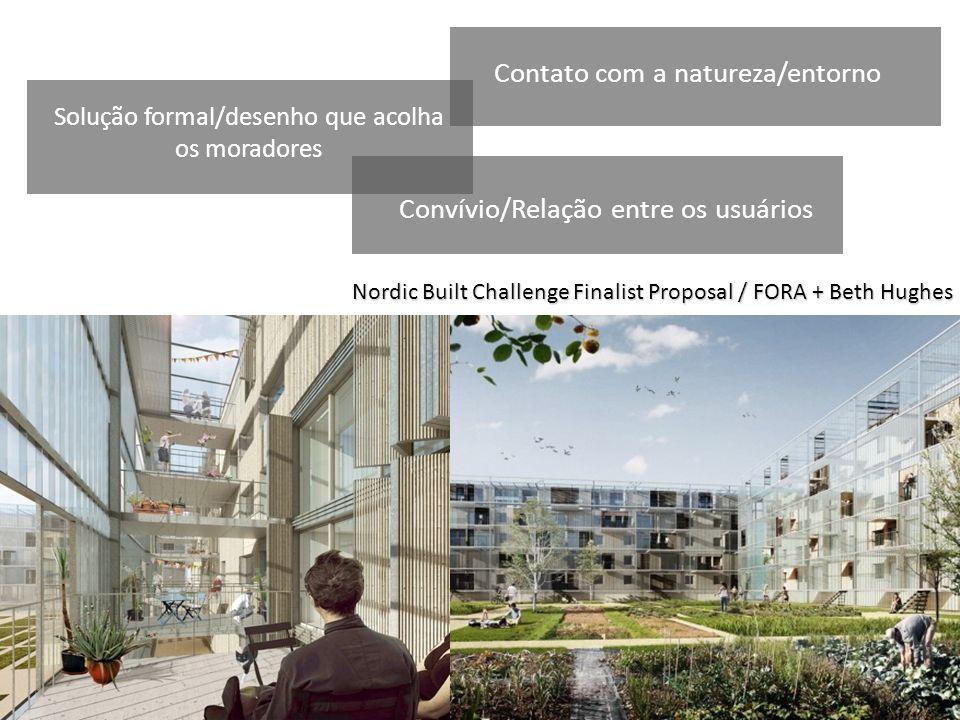 Nordic Built Challenge Finalist Proposal / FORA + Beth Hughes Planta baixa livre, fluidez Solução formal/desenho que acolha os moradores Contato com a
