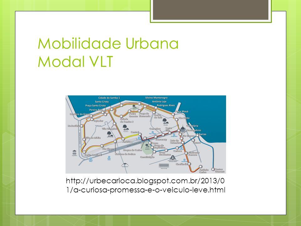 Mobilidade Urbana Modal VLT http://urbecarioca.blogspot.com.br/2013/0 1/a-curiosa-promessa-e-o-veiculo-leve.html