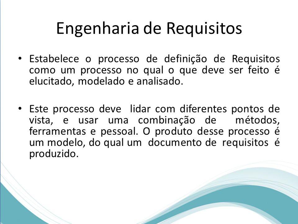 Engenharia de requisitos Um dos principais objetivos da engenharia de requisitos é melhorar a modelagem de sistemas e a capacidade de analisá-los, possibilitando maior entendimento de suas características antes da implementação.