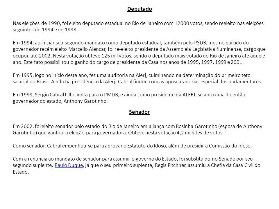 Deputado Nas eleições de 1990, foi eleito deputado estadual no Rio de Janeiro com 12000 votos, sendo reeleito nas eleições seguintes de 1994 e de 1998