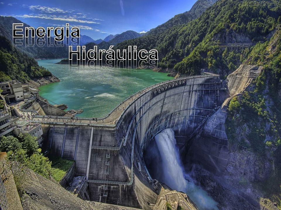 A energia hidroeléctrica é a energia que se produz em barragens construídas em cursos de água (exemplo, a barragem do Alqueva).