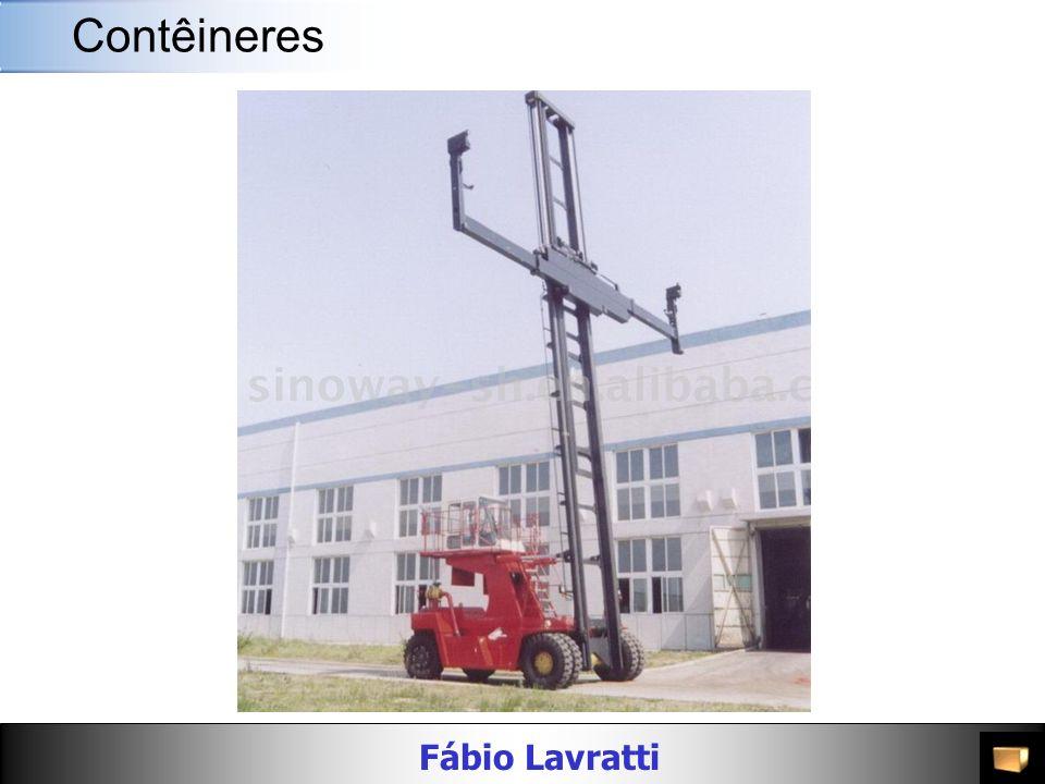 Fábio Lavratti Movimentação de materiais AlturaMaterial Peso Bruto (kg/lbs) Carga Máxima (kg/lbs) PortaDimensões Interiores Cubagem Interior (m³/cft) Largura (mm/ft) Altura (mm/ft) Compri mento (mm/ft) Largura (mm/ft) Altura (mm/ft) 40 Flat Rack 8 -6 Aço 5,100 / 11,244 25,380 / 55,953 -- 12,072 / 39 7 2,374 / 7 9 1,995 / 6 7 57.1 / 2,016