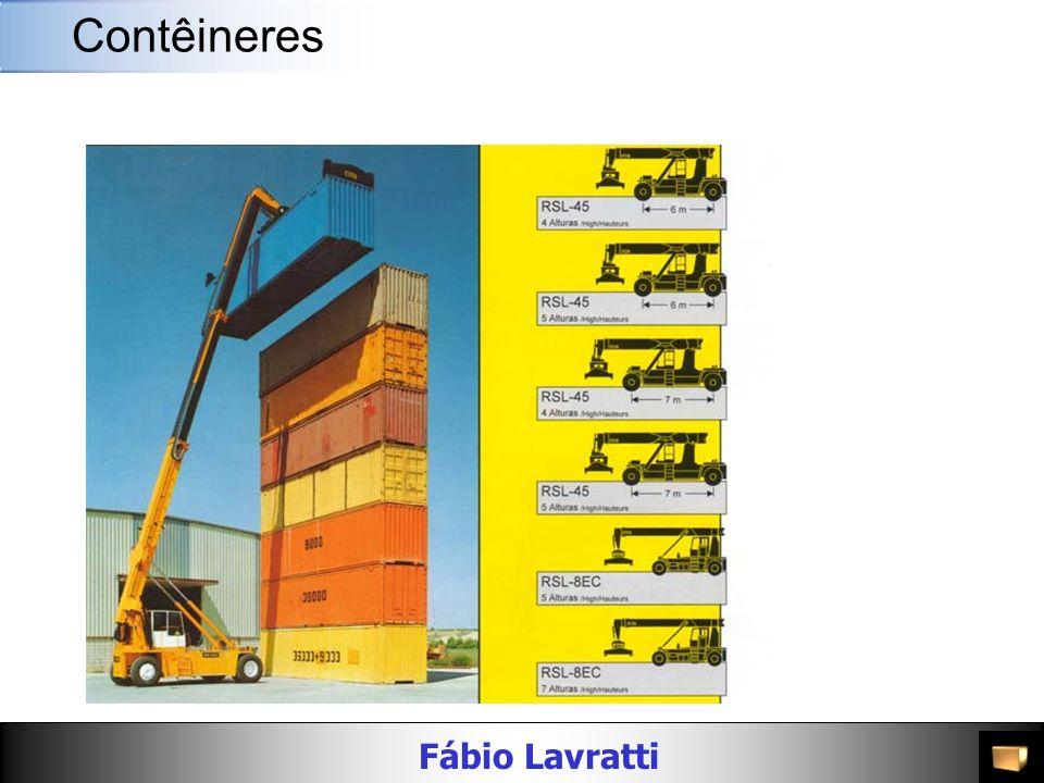 Fábio Lavratti Movimentação de materiais AlturaMaterial Peso Bruto (kg/lbs) Carga Máxima (kg/lbs) PortaDimensões Interiores Cubagem Interior (m³/cft) Largura (mm/ft) Altura (mm/ft) Compri mento (mm/ft) Largura (mm/ft) Altura (mm/ft) 40 Dry Freight 8 -6 Alumínio 2,640 / 5,820 27,840 / 61,377 2,343 / 7 8 2,283 / 7 6 12,058 / 39 7 2,343 / 7 8 2,383 / 7 10 67.3 / 2,376 8 -6 Aço 3,860 / 8,510 26,620 / 58,687 2,340 / 7 8 2,280 / 7 6 12,039 / 39 6 2,350 / 7 9 2,392 / 7 10 67.7 / 2,390