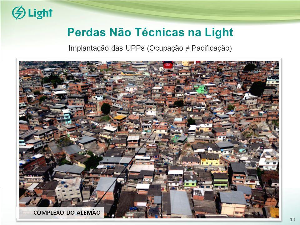 Perdas Não Técnicas na Light Implantação das UPPs (Ocupação Pacificação) COMPLEXO DO ALEMÃO 13
