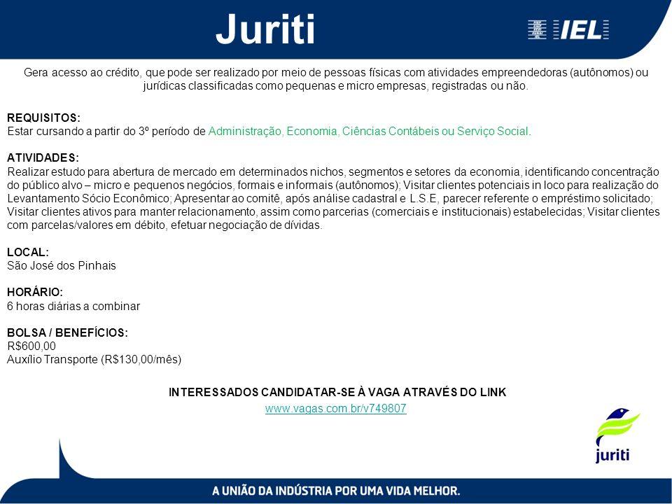 Juriti Gera acesso ao crédito, que pode ser realizado por meio de pessoas físicas com atividades empreendedoras (autônomos) ou jurídicas classificadas