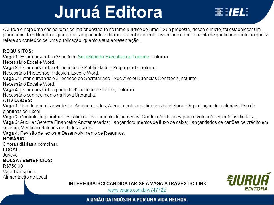 Juruá Editora A Juruá é hoje uma das editoras de maior destaque no ramo jurídico do Brasil. Sua proposta, desde o início, foi estabelecer um planejame