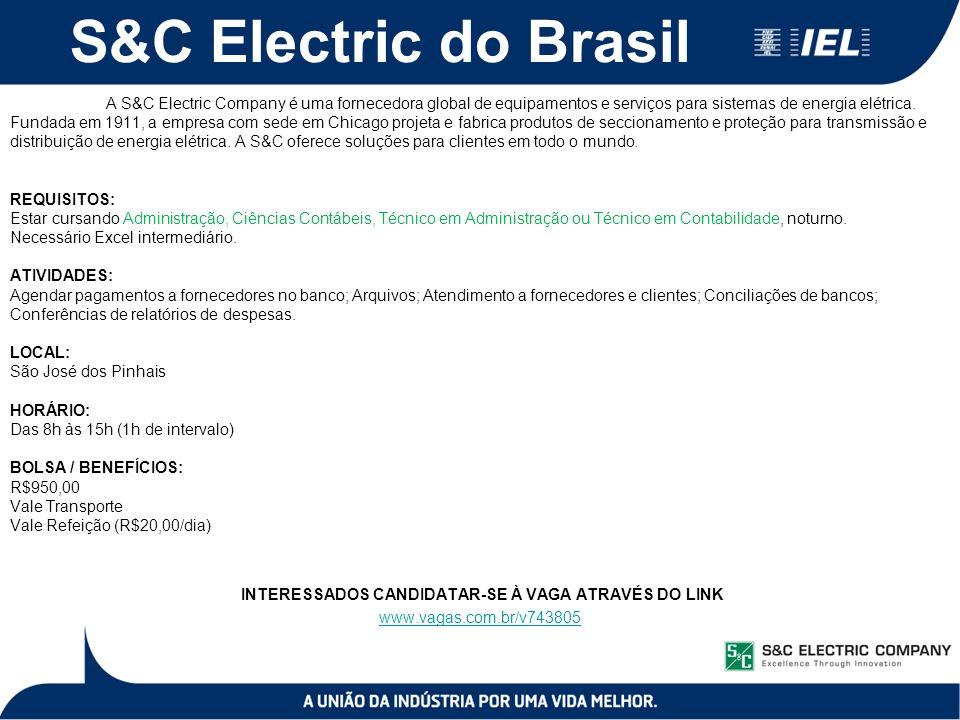 S&C Electric do Brasil A S&C Electric Company é uma fornecedora global de equipamentos e serviços para sistemas de energia elétrica.