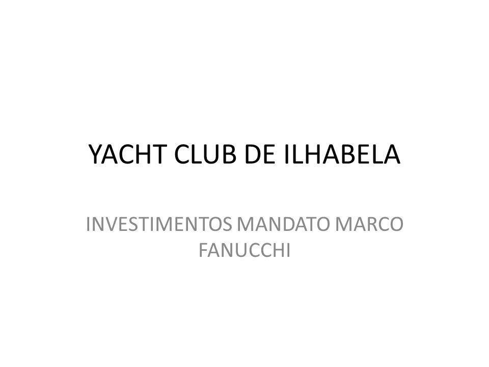 YACHT CLUB DE ILHABELA INVESTIMENTOS MANDATO MARCO FANUCCHI