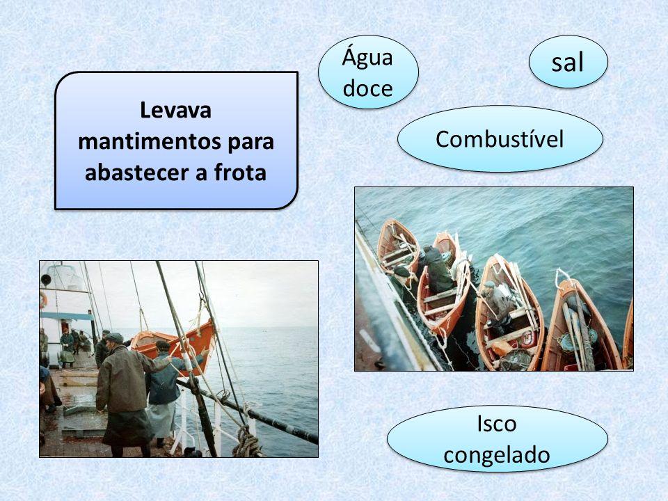 Aos navios que transportavam os Dórischamavam-se navios de linha, levavam cerca de 80 a 100 Dóris empilhados no convés.