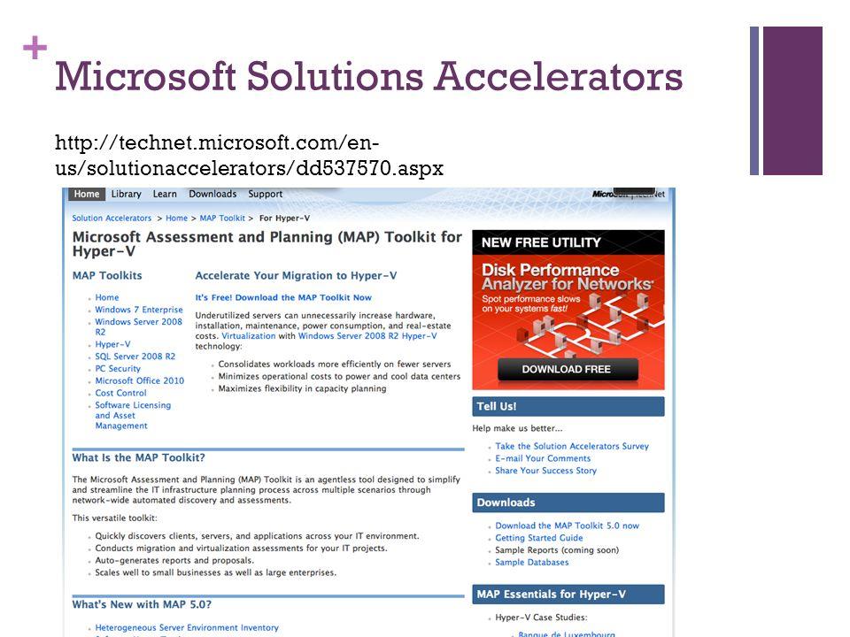 + Microsoft Solutions Accelerators http://technet.microsoft.com/en- us/solutionaccelerators/dd537570.aspx