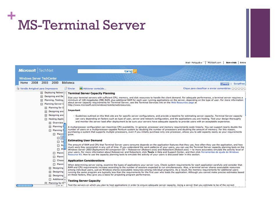+ MS-Terminal Server