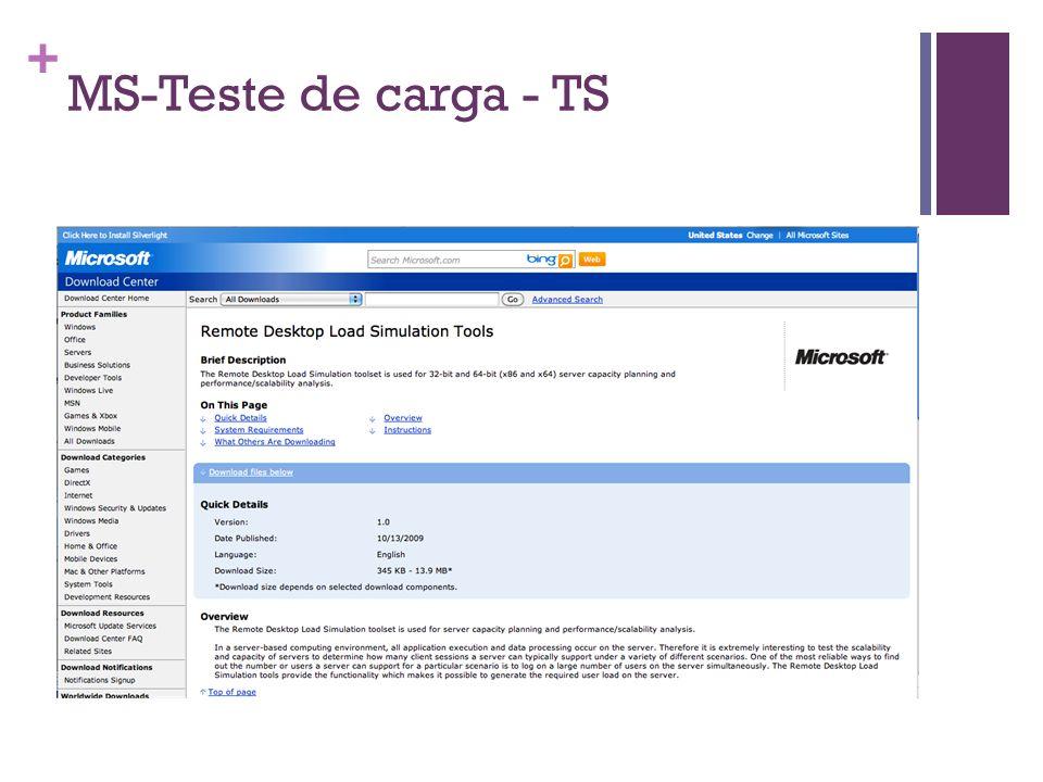 + MS-Teste de carga - TS
