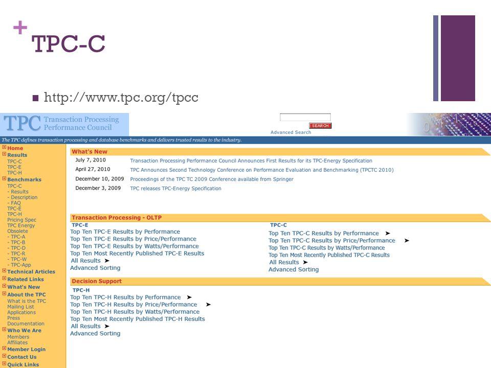 + TPC-C http://www.tpc.org/tpcc