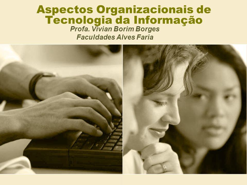 Aspectos Organizacionais de Tecnologia da Informação Profa. Vivian Borim Borges Faculdades Alves Faria