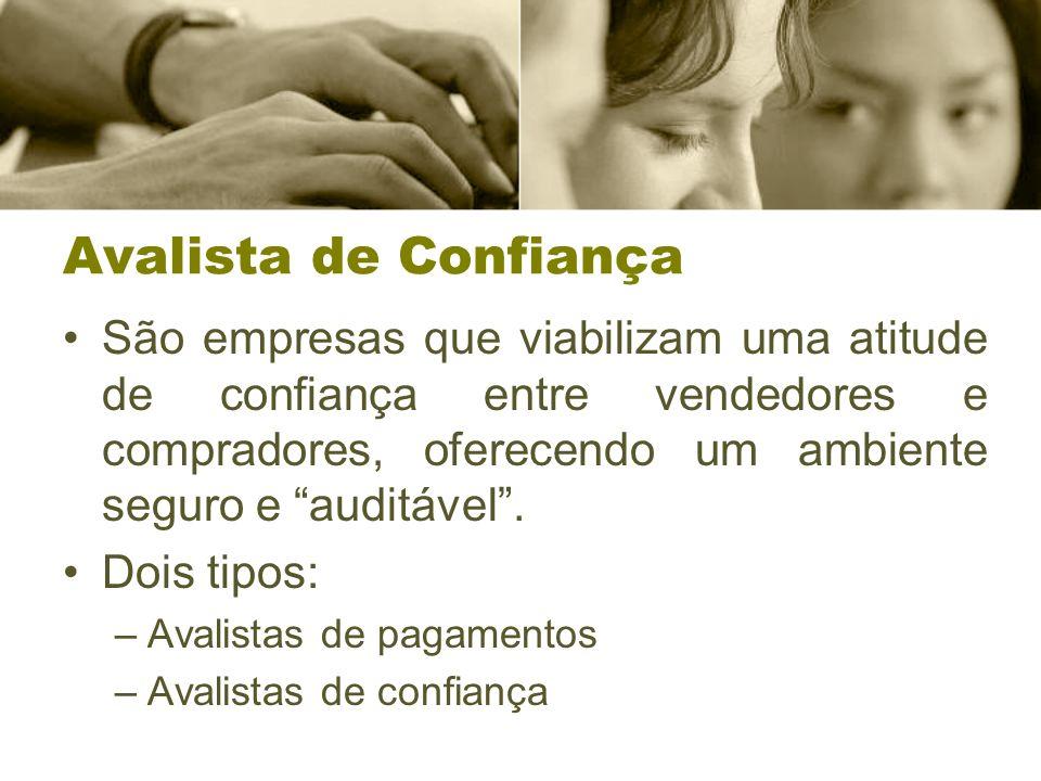 Avalista de Confiança São empresas que viabilizam uma atitude de confiança entre vendedores e compradores, oferecendo um ambiente seguro e auditável.