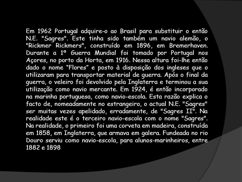 Em 1962 Portugal adquire-o ao Brasil para substituir o então N.E.