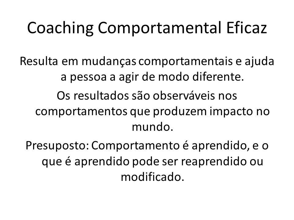 Avaliação em Coaching Comportamental Avaliar e medir comportamento antes da intervenção.