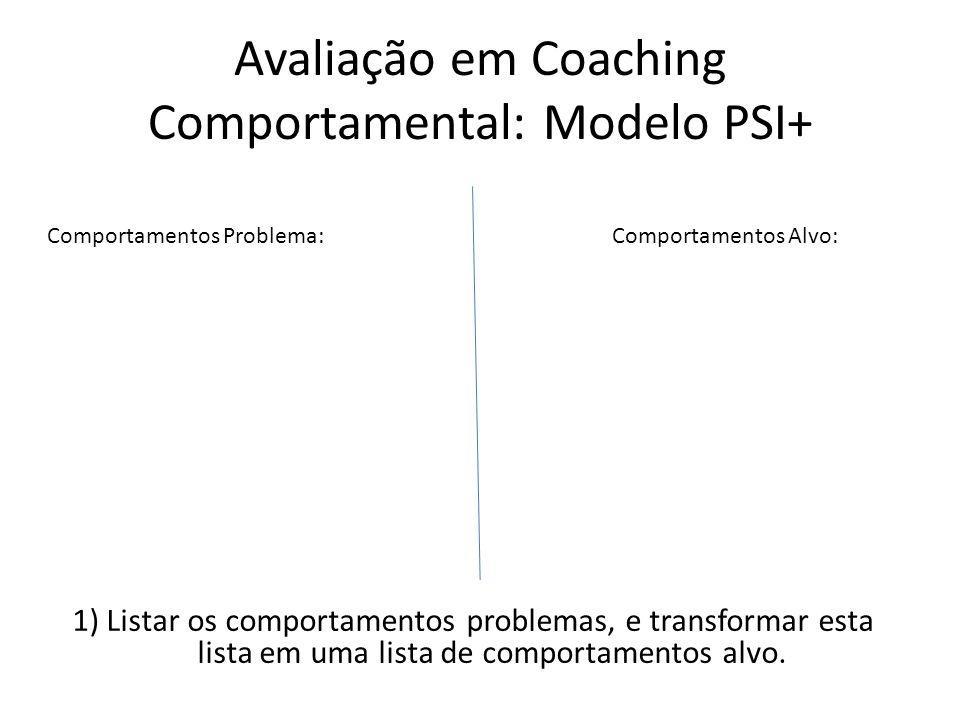Estabelecer objetivos a serem alcançados no processo coaching comportamental (comportamento (s) alvo (s)).