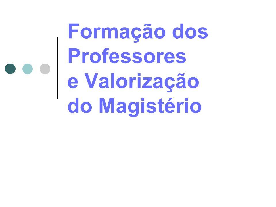 Formação dos Professores e Valorização do Magistério