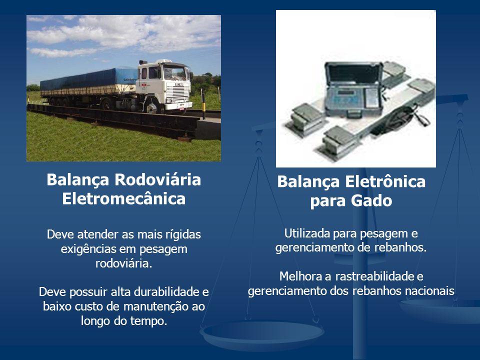 Balança Rodoviária Eletromecânica Deve atender as mais rígidas exigências em pesagem rodoviária. Deve possuir alta durabilidade e baixo custo de manut