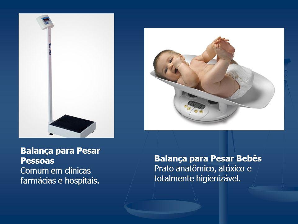 Balança para Pesar Pessoas Comum em clinicas farmácias e hospitais. Balança para Pesar Bebês Prato anatômico, atóxico e totalmente higienizável.