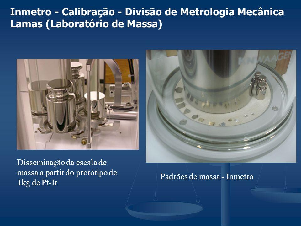 Inmetro - Calibração - Divisão de Metrologia Mecânica Lamas (Laboratório de Massa) Disseminação da escala de massa a partir do protótipo de 1kg de Pt-