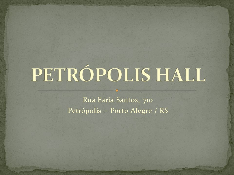 Rua Faria Santos, 710 Petrópolis – Porto Alegre / RS