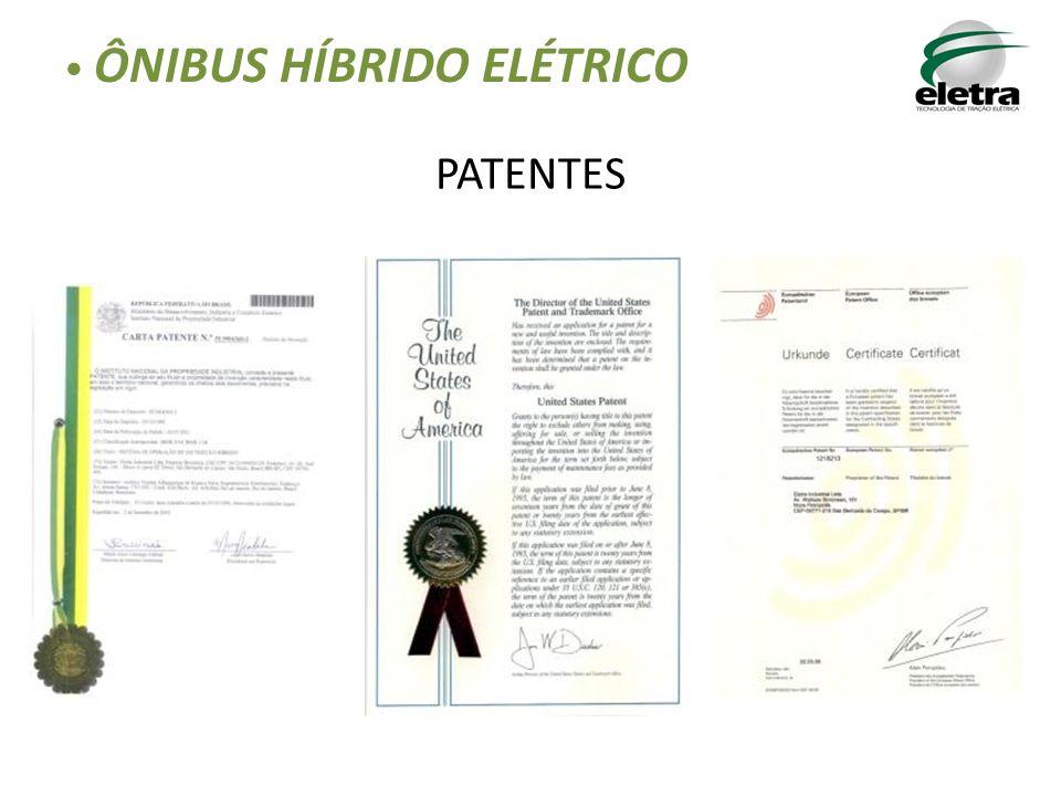 PATENTES ÔNIBUS HÍBRIDO ELÉTRICO