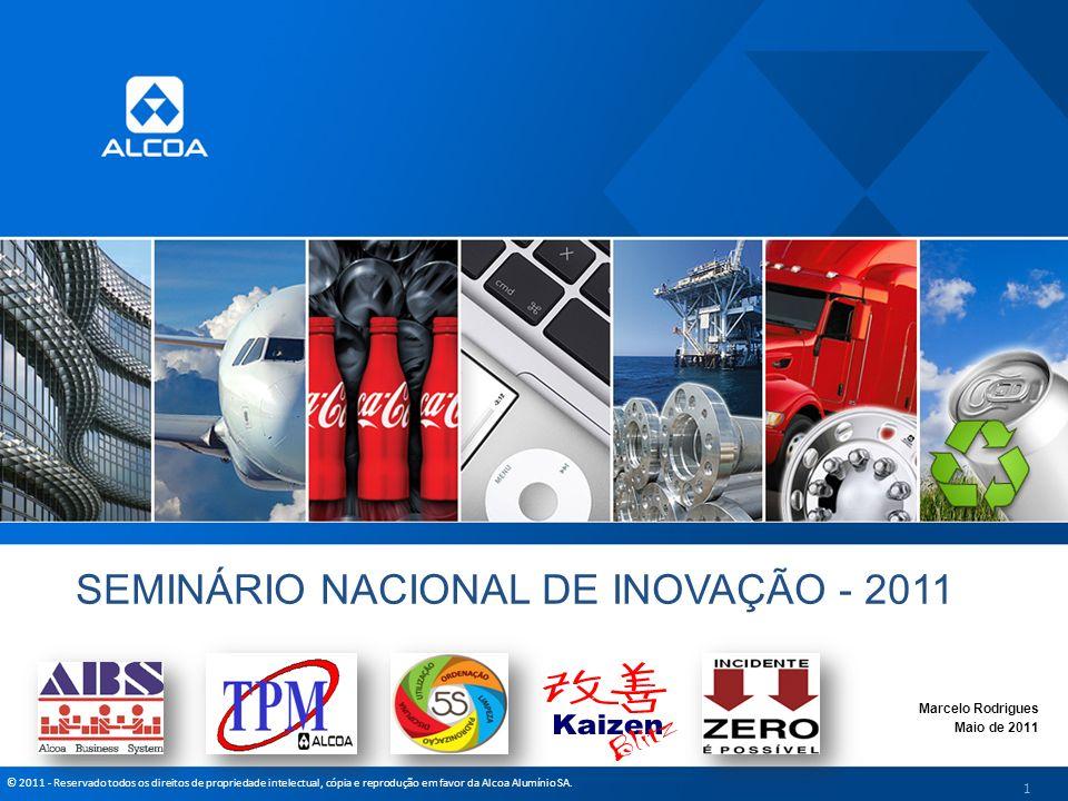 © 2011 - Reservado todos os direitos de propriedade intelectual, cópia e reprodução em favor da Alcoa Alumínio SA. SEMINÁRIO NACIONAL DE INOVAÇÃO - 20
