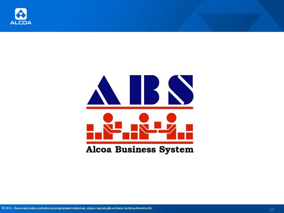 © 2011 - Reservado todos os direitos de propriedade intelectual, cópia e reprodução em favor da Alcoa Alumínio SA. 13