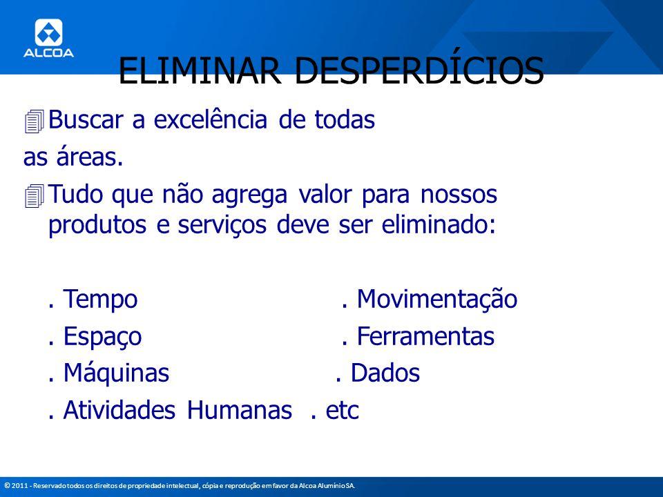 © 2011 - Reservado todos os direitos de propriedade intelectual, cópia e reprodução em favor da Alcoa Alumínio SA. 4Buscar a excelência de todas as ár