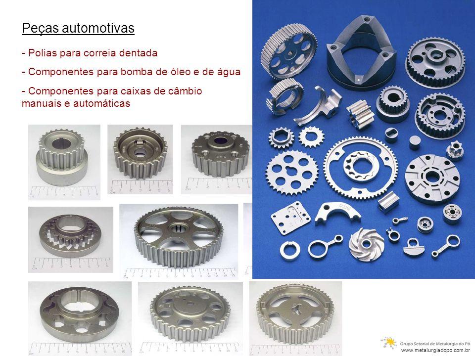 Peças automotivas - Polias para correia dentada - Componentes para bomba de óleo e de água - Componentes para caixas de câmbio manuais e automáticas w