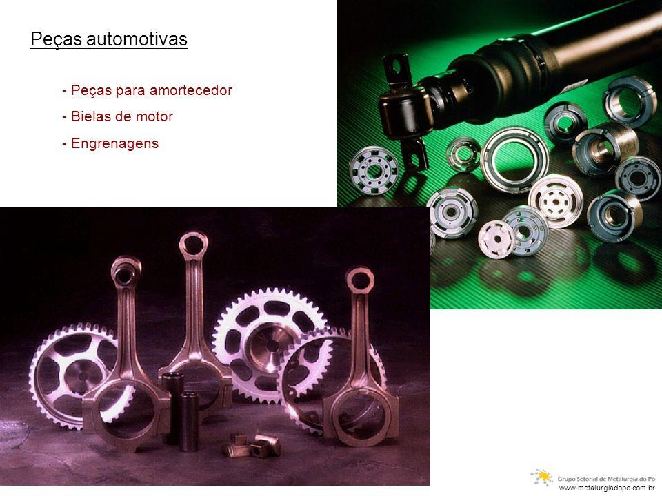 - Peças para amortecedor - Bielas de motor - Engrenagens www.metalurgiadopo.com.br Peças automotivas