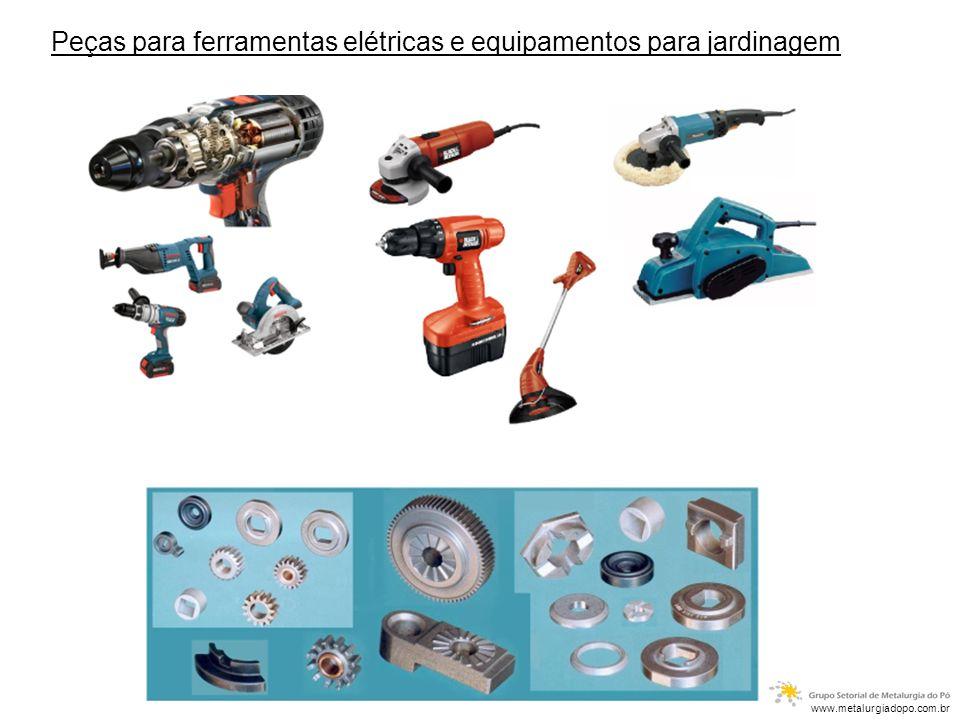 Buchas auto-lubrificantes: Materiais: - Bronze - Ferro - Ferro Grafite - Ferro Bronze Aplicação: - Automobilística - Eletrodomésticos - Ferramentas elétricas - Motores elétricos www.metalurgiadopo.com.br