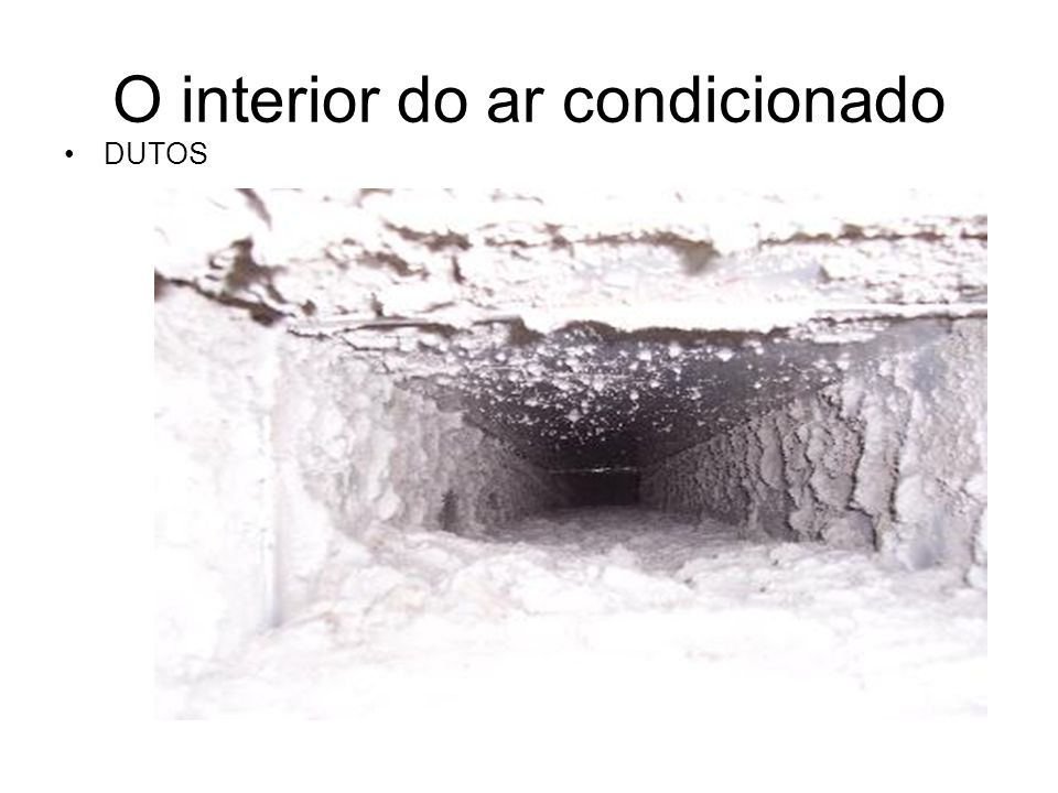 O interior do ar condicionado DUTOS