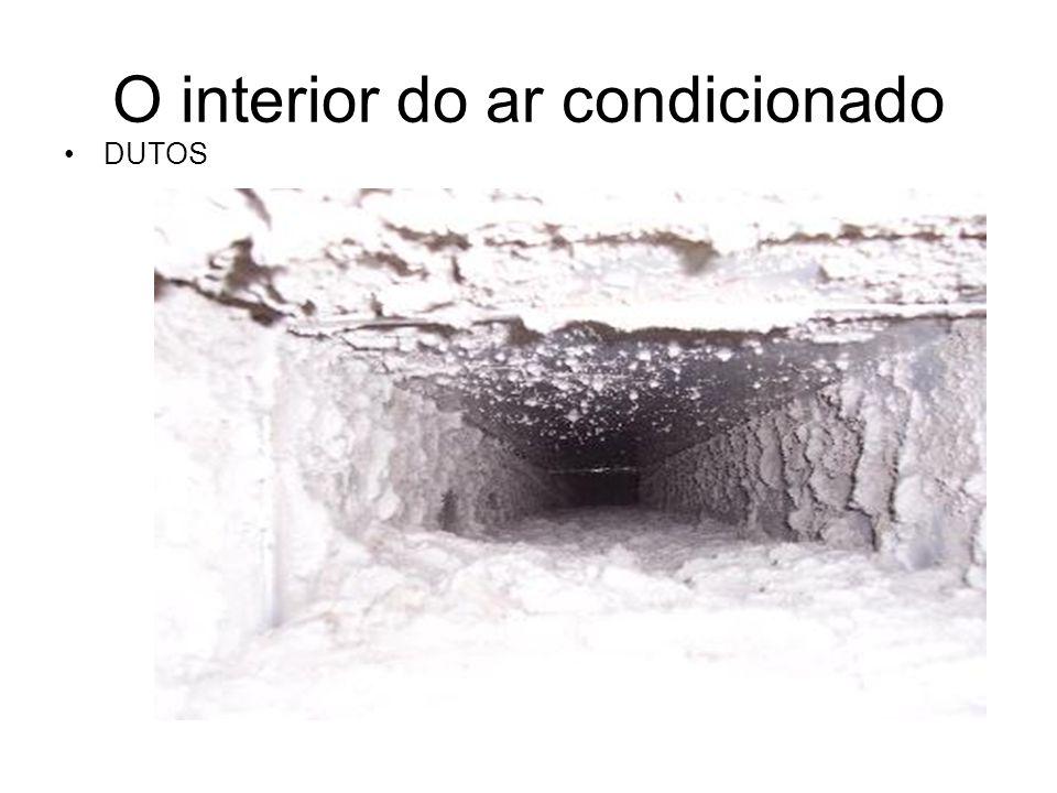 O interior do Ar condicionado TROCADOR DE CALOR