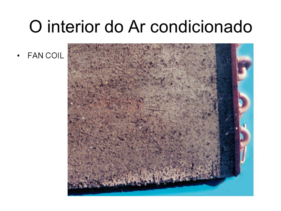 O interior do Ar condicionado FAN COIL