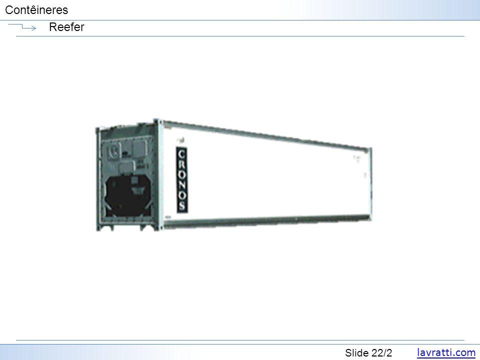 lavratti.com Slide 22/2 Contêineres Reefer
