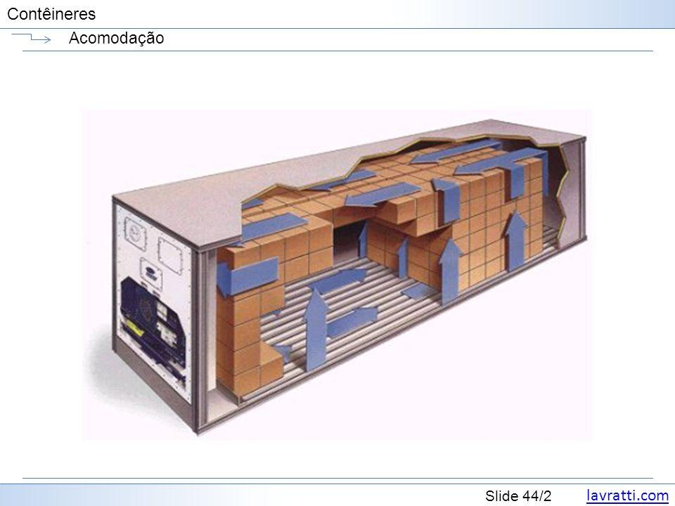 lavratti.com Slide 44/2 Contêineres Acomodação
