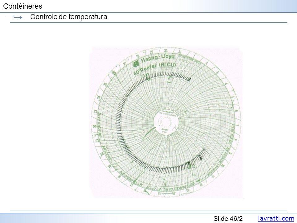 lavratti.com Slide 46/2 Contêineres Controle de temperatura
